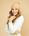 CC Cable Knit Beanie - Tan