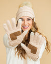 CC Cable Knit Gloves - Multiple Colors