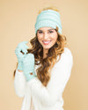 CC Cable Knit Beanie - Mint