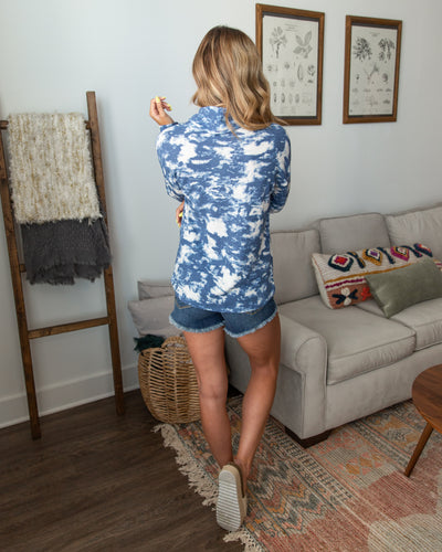Call You Later Tie-Dye Top - Navy