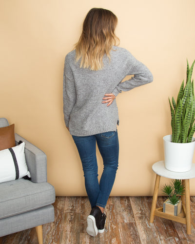 Call It A Day Pullover - Grey