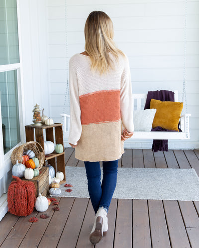 Calls For Fall Sweater - Beige Multi