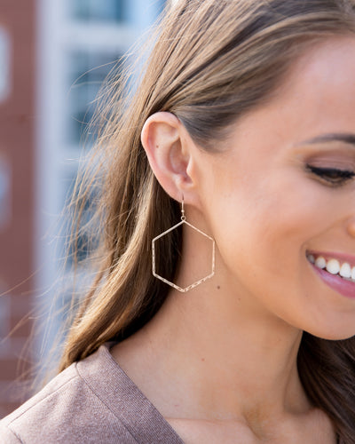 Cami Statement Earrings - Gold