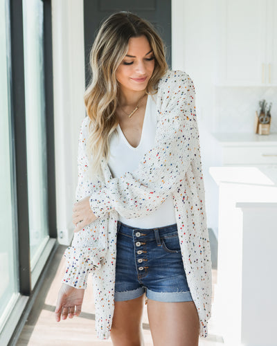 Campfires And Coffee Cardigan - Cream