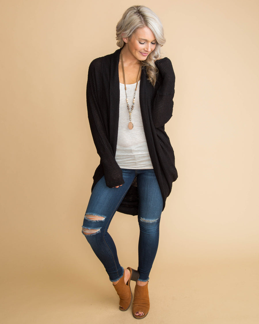 Can We Cuddle Cardigan - Black
