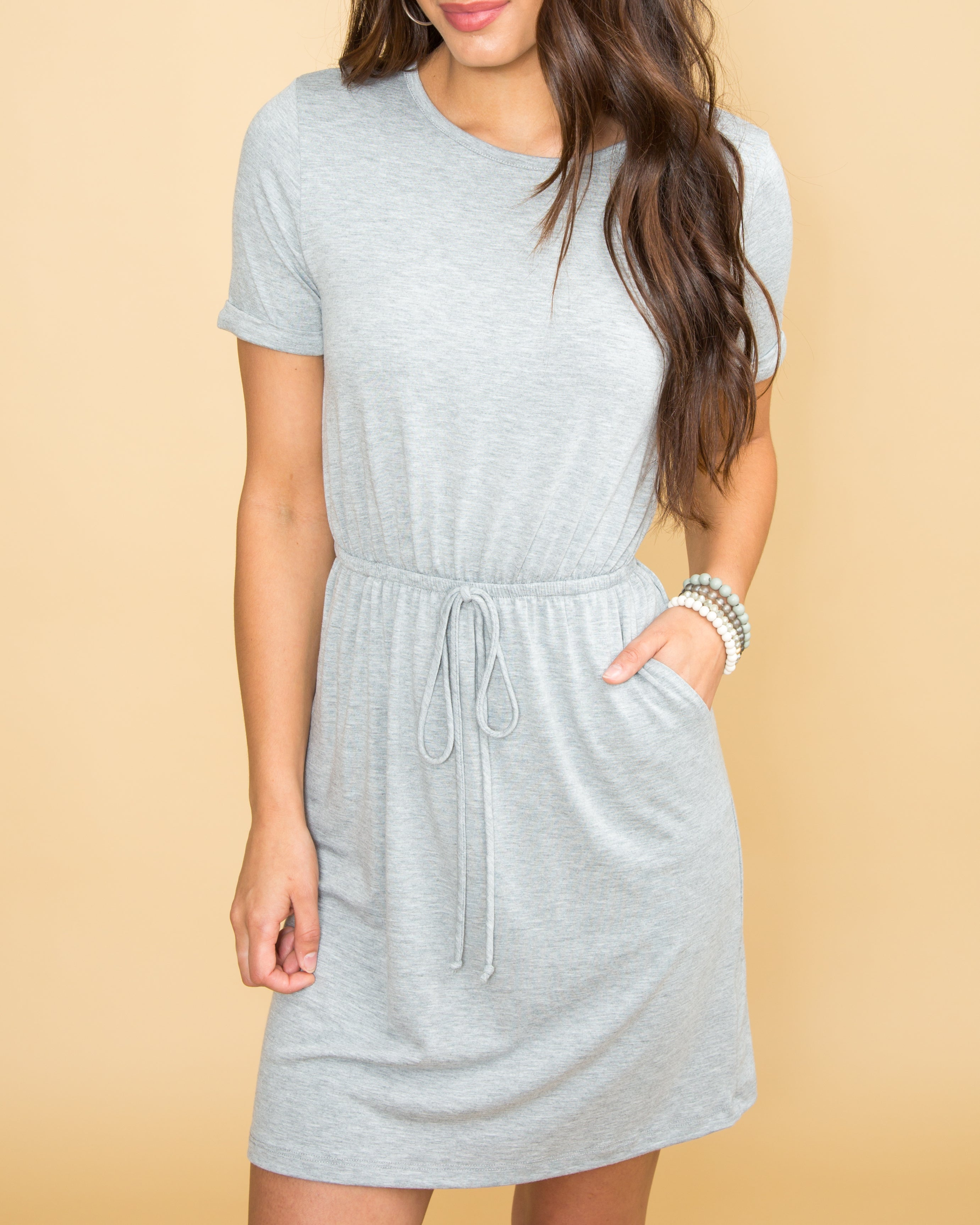 Can We Get Casual Dress - Lt Grey