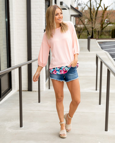 Can't Forget You Floral Top - Petal Pink