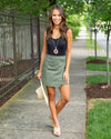 Can't Wait For Friday Skirt - Olive