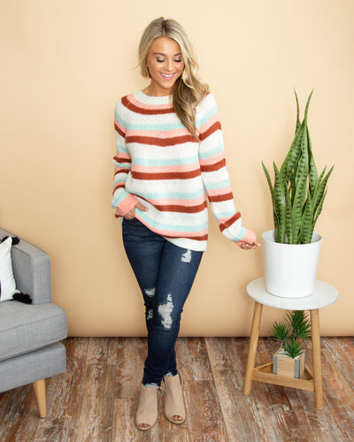 Can't Doubt My Love Sweater - Multi