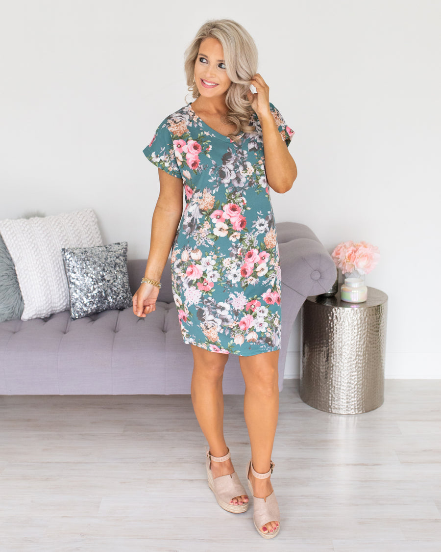 Can't Help Falling In Love Dress - Sage