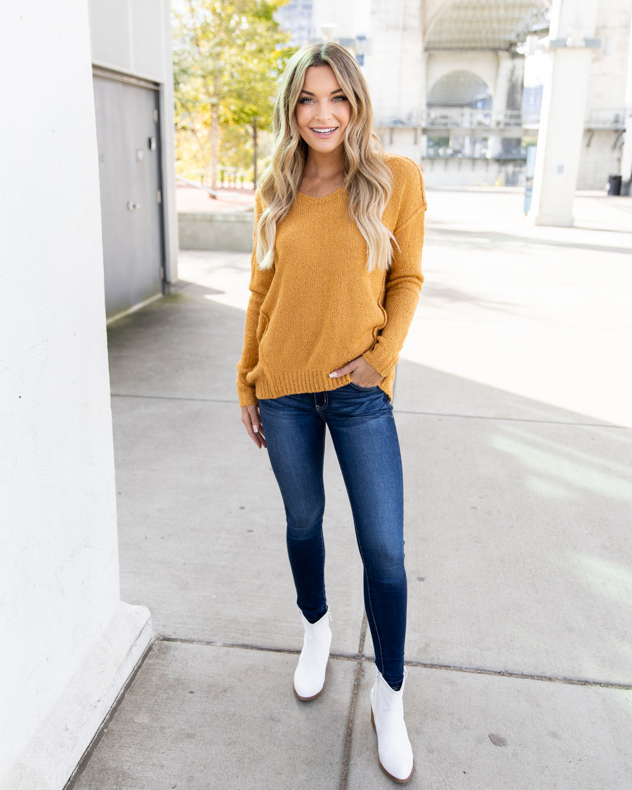 Candid Memories Sweater - Mustard
