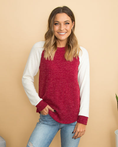 Carefree Attitude Top - Crimson