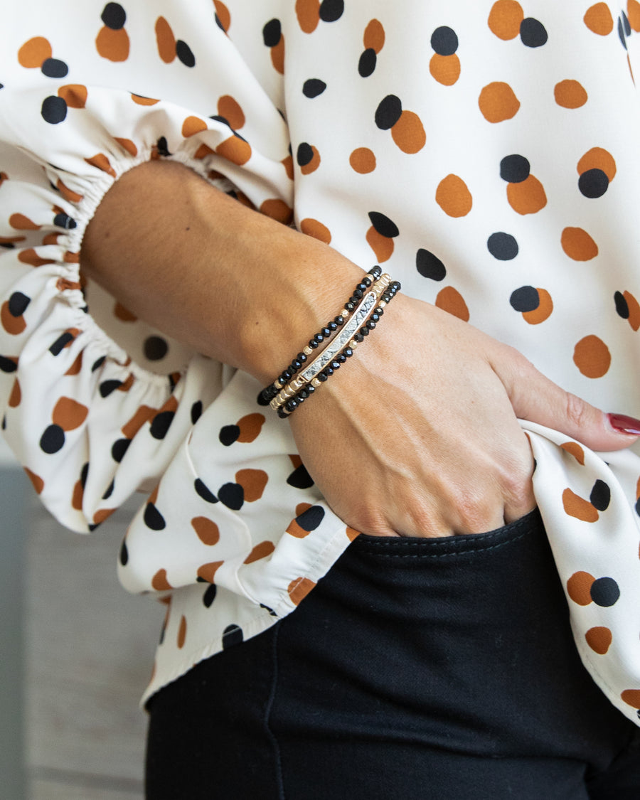 Carly Stackable Bracelet - Black