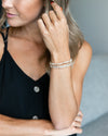 Carly Stackable Bracelet - Cream