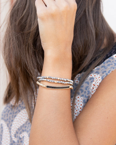 Carly Stackable Bracelet - Charcoal