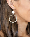 Carmen Beaded Hoops - Cream
