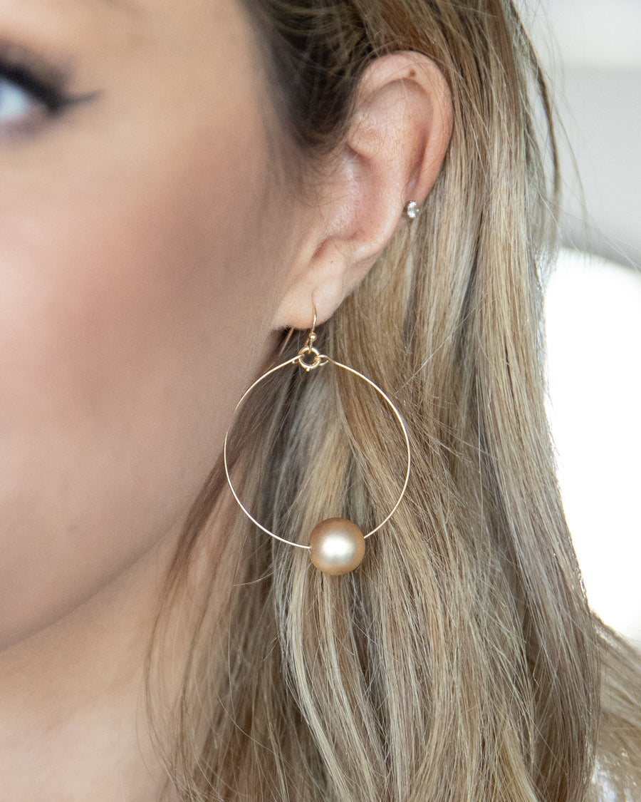 Carter Hoop Earrings - Gold