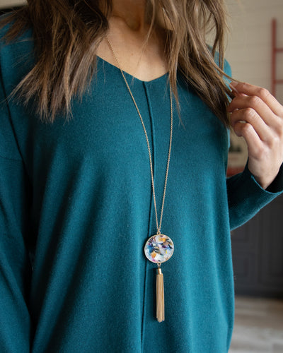Casey Pendant Necklace - Multi