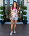 Casual Connection Floral Top - Fuchsia