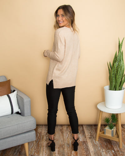 Casual Afternoon Sweater - Warm Taupe