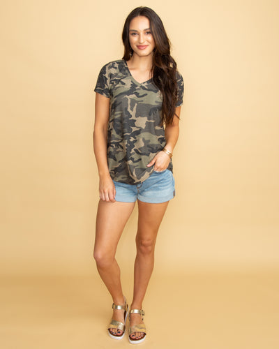 Casual Cutie Top - Camo