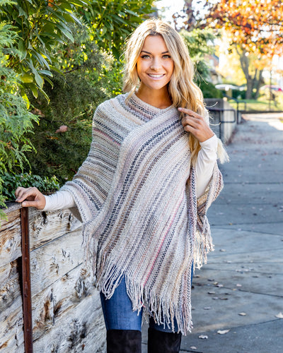 Change Of Seasons Poncho - Multi