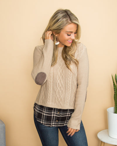 Changing Seasons Sweater - Taupe