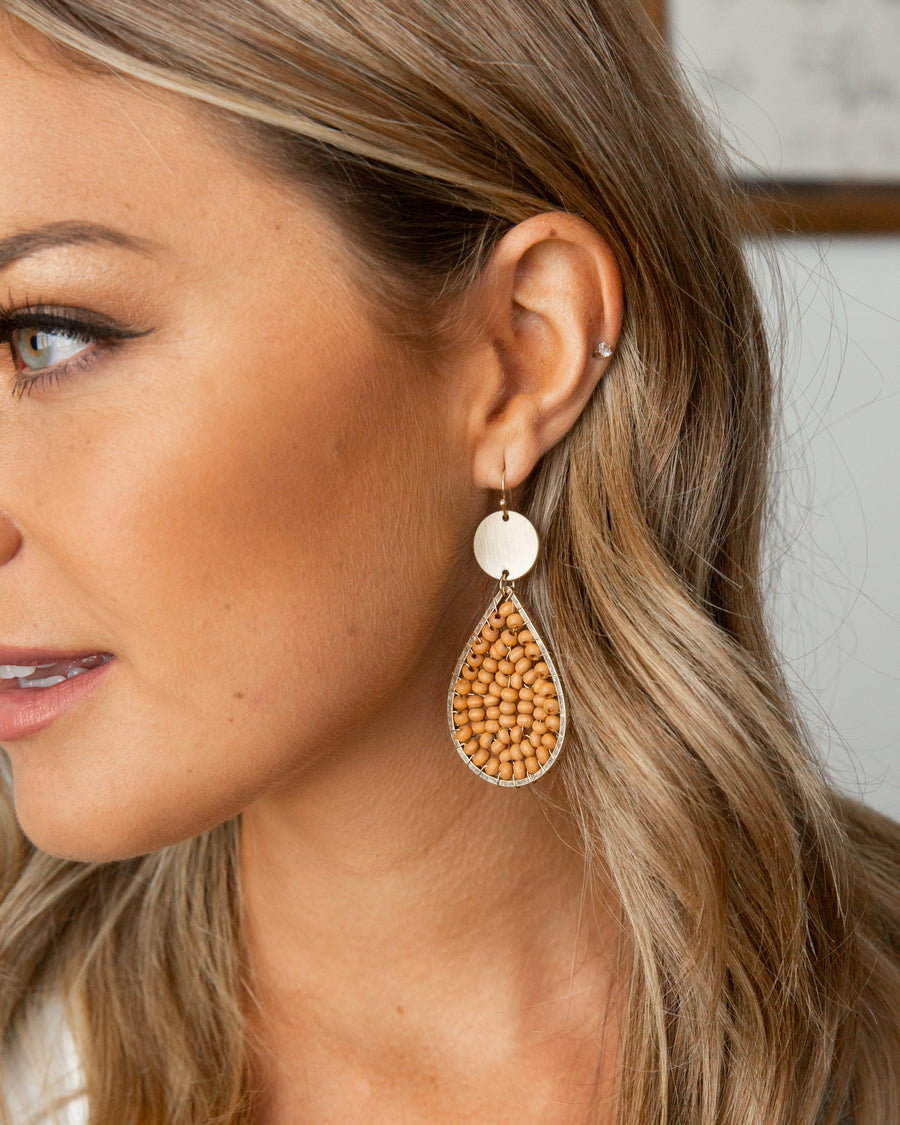 Charlene Earrings - Brown