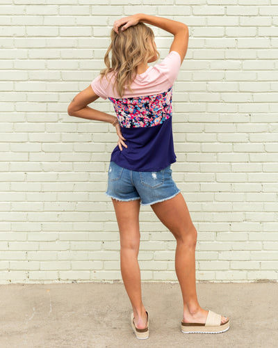 Charm Your Way Top - Navy