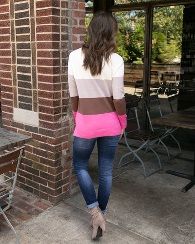 Charming Encounter Top - Fuchsia Multi