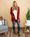 Chasing Memories Cardigan - Red