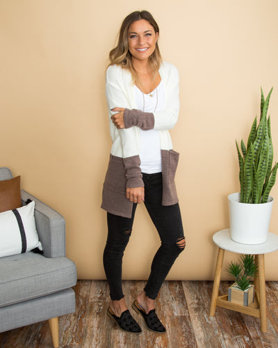 Chill In The Air Cardigan - Cream