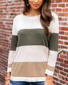 Chilly Situation Sweater - Olive Multi