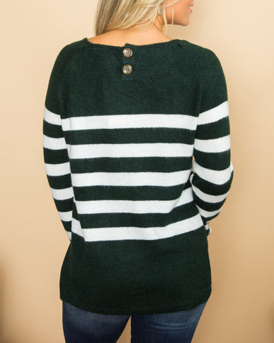 Chilly Days Top - Forest Green