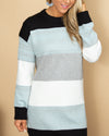 Chilly In Charleston Sweater Dress - Heather Mint