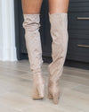 Chinese Laundry Becca Over The Knee Boots - Beige