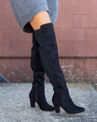 Chinese Laundry Becca Over The Knee Boots - Black