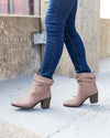 Chinese Laundry Rory Suede Booties - Mocha