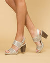 Chinese Laundry Cadence Metallic Cutout Heel - Gold