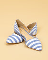 Chinese Laundry Elliott Stripe Flat - Blue/White