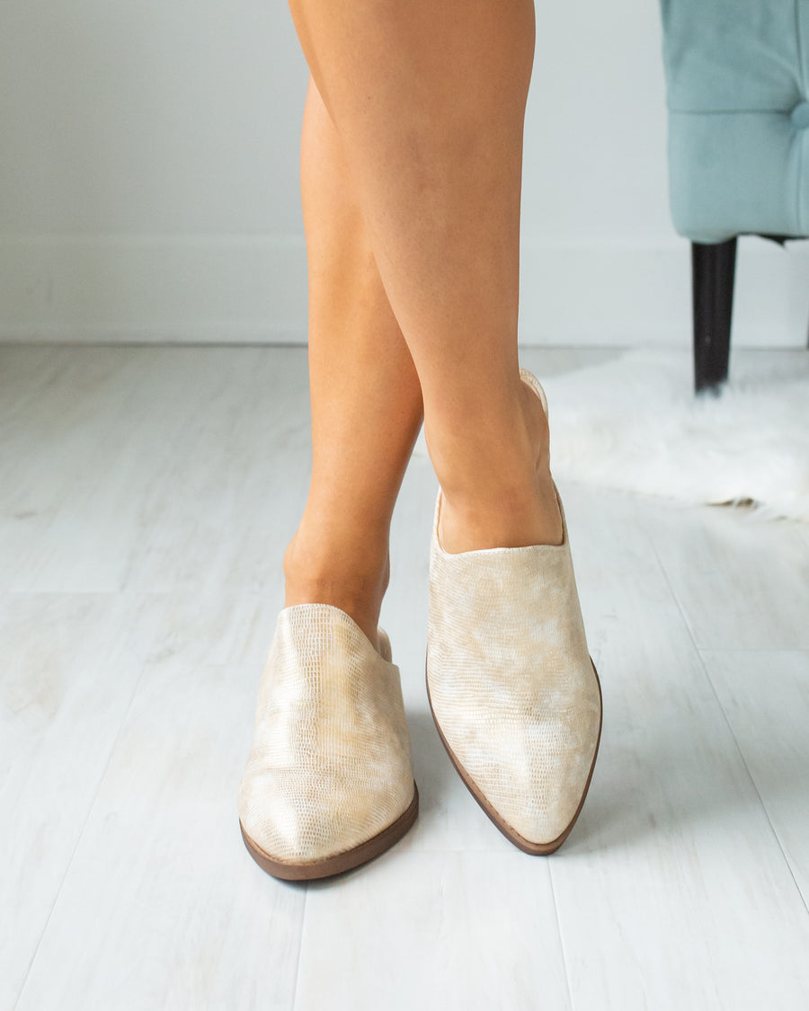 Chinese Laundry Maren Mules - Gold Shimmer