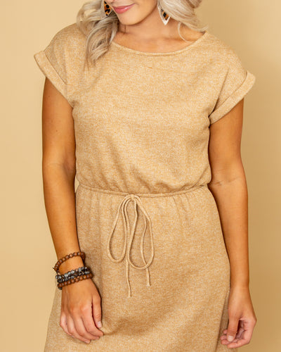 Choose Success Dress - Heather Mustard