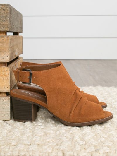 Chinese Laundry Christina Open Toe Bootie - Whiskey