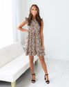 City Nights Dress - Leopard