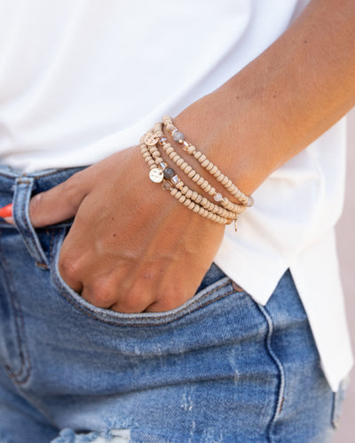 Claire Stackable Bracelet - Tan
