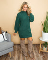 Class Act Sweater Dress - Forest Green