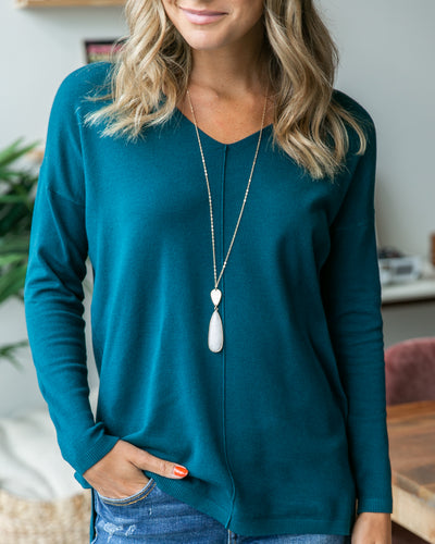 Classically Chic Top - Dark Teal