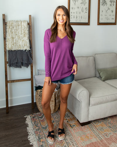 Classically Chic Top - Autumn Orchid