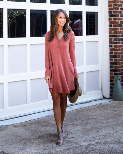 Classically Cute Dress - Marsala