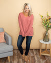 Classically Chic Top  - Dusty Pink